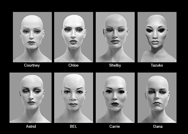 Mannequin Content_Female Heads_Realistic_02