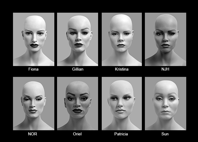 Mannequin Content_Female Heads_Realistic_03