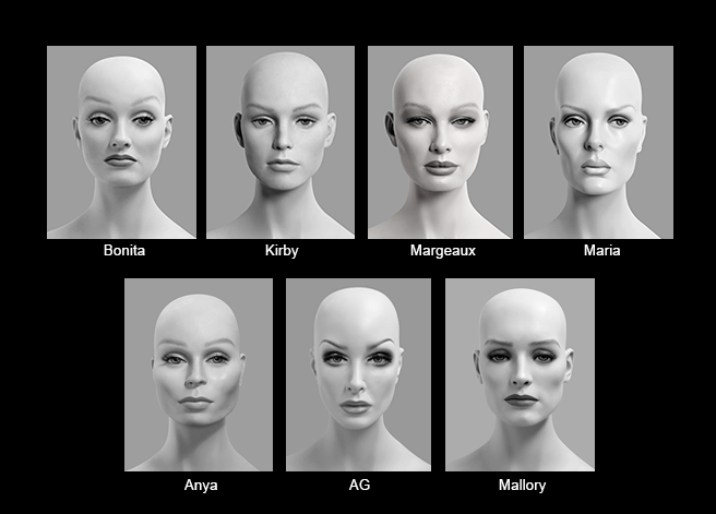 Mannequin Content_Female Heads_Realistic_04