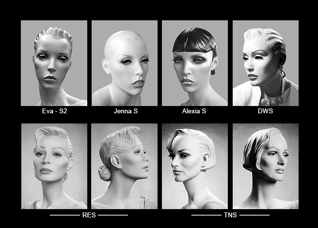 Mannequin Content_Female Heads_Abstract_03