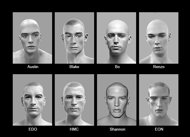 Mannequin Content_Male Heads_Realistic_01