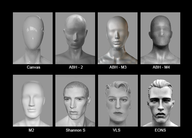 Mannequin Content_Male Heads_Abstract_01